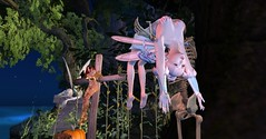 Family time in Neverland (orchid.bolissima) Tags: neverland calas ghaladon pixie dust family skeleton scarecrow harvest fantasy pumpkin corn