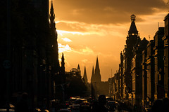 Golden Princess (p.niebergall) Tags: princess street edinburgh scotland golden sun