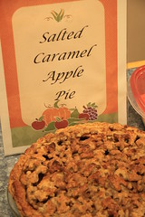 Salted Caramel Apple Pie - and look at the topping.