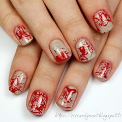 halloween_nails (-Yue) Tags: nails nail art halloween splatter manicure