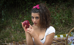 DSC_8411 (jonathan _ paul) Tags: vintage retro pin up girl model beauty forest outdoor natural light fruit portrait picnic pinup girls