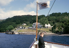 Nearing Inversnaid - from 'Countess Fiona' Sep'84. (David Christie 14) Tags: countessfiona inversnaid lochlomond
