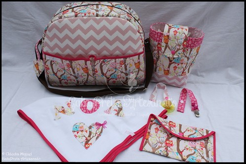 "Conjunto de maternidade ""Pink Tree Party"""
