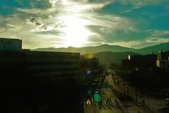 (Jeff Cruz) Tags: city medellin colombia blue sky people walk canon digital street natur mountain