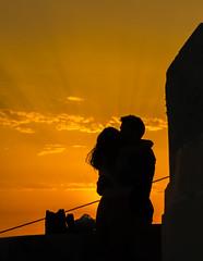 Evening embrace..... (Kelly's Eye Pics) Tags: green couple sunset embrace love loving kiss santorini imerovigli pentaxk5ii da50135f28 rays gold golden