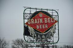 Grain Belt (1 of 3) (GLEN A JOHNSON) Tags: beer grainbelt sign minneapolis minnesota nikon d7100