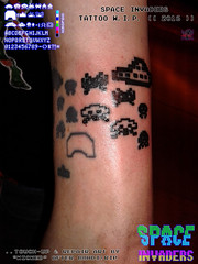 SPACE INVADERS: tattoo, touch-up & repair by WICKED iii (tOkKa) Tags: 2016 tattoo fifthelementtattoo bohdi taito boddhi spaceinvaders taスペースインベーダー 8bit videogame wicked artbywicked 2005 tmnt nes konami nintendoentertainmentsystem arcadegame artbywickedvideo game tattoocolorado springs