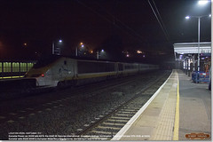 Eurostar Class 373 set 3006 tails 6X73 at Huntingdon, en-route to EMR, Kingsbury for scrap, October 27th 2016 c (Bristol RE) Tags: eurostar 373 class373 45201 huntingdon scrap emr kingsbury europeanmetalrecycling night fog 6x73 3006
