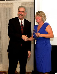 Linda Roehner, President & CEO of Hatboro Federal Savings, accepts the Corporate Citizen Award