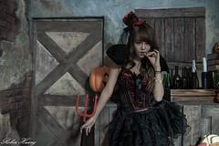 DSC_7411 (Robin Huang 35) Tags: 孫卉彤 candy miruna萬聖風 小惡魔 吸血鬼 vampire 萬聖節 halloween 棚拍 lady girl d810 nikon devil