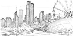 Chicago, promenade sur Navy Pier (Croctoo) Tags: croctoo croquis croctoofr crayon chicago navypier skyscraper gratteciel skyline granderoue sketch