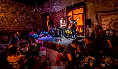 On Stage at Amati Jazz Club - Chris Sanchez Blues Band