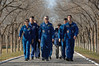 jsc2016e181835 (NASA Johnson) Tags: expedition 50 peggy whitson preflight prelaunch training baikonur cosmodrome cosmonaut hotel tree planting medical checkout thomas pesquet jack fischer flight suit international nasa roscosmos esa france