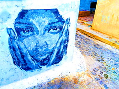 Medina Rabat (Ouadii) Tags: oudaya africa afrique street rue streetart rabat médina femme mur maroc morocco iphone5