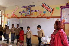 School Visit (oxfordblues84) Tags: oat overseasadventuretravel peru sacredvalley urubama urubamaperu grandcirclefoundation school schoolvisit peruschool adayinthelife worldclassroominitiative classroom schoolhouse sanisidrolabrador teacher peruviankids peruvianchildren children