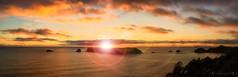 Island of light - DSC2758 A7 (cleansurf2) Tags: landscape seascape newzealand island light sunset sunrise surreal water ocean widescreen panorama clouds sea mood minimual mirrorless vivid color colour coast cloud black blue orange yellow flare lens sony screensaver ilce7m2 a7m2 a7ii wallpaper 4k hires hd glow golden fantasy dream scene arty backdrop background tones resolution emount reflection 3840 wide waterscape aqua colorful