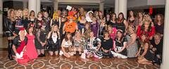 A Big Halloween Party! (kaceycd) Tags: crossdress tg tgirl lycra spandex wetlook leotard bodysuit miniskirt pantyhose fishnets fishnethose boots thighboots sexyboots patentleatherboots stilettoheels stilettos stilettoboots shinyboots s