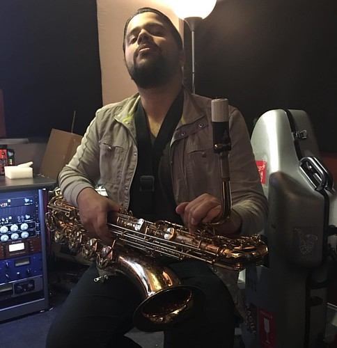 Done, done, on to the next one. @salcedomusic #newmusic #comingsoon #rockandroll #saxophone #lowend #mikeerrico