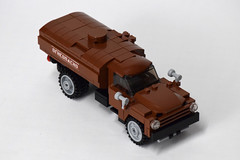 ZIL-130 Fuel Truck (2) (Dornbi) Tags: lego zil truck zil130 soviet fuel ground vehicle