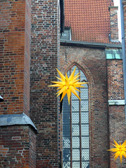 (Travelling and more) Tags: christmas star decoration advent lübeck hanseatic brick brownstone