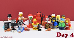 How she saves Christmas (Alex THELEGOFAN) Tags: lego legography minifigures minifigure minifig minifigs minifigurine minifigurines satan diable santa claus grinch the present gift kids boy book turkey baseball