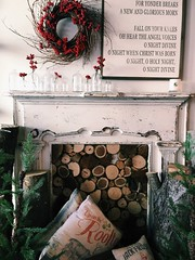 Happy Sunday (life stories photography) Tags: 2016 iphone texas waco silos magnolia november winter red berries fireplace chirstmas stilllife
