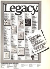 Les Usherwood, Canada's Ed Benguiat (Stewf) Tags: type:designer=leslieusherwood typemasters poster typefaces fonts phototype type:foundry=typsettra
