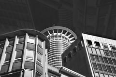 Fata Morgana in Frankfurt (pwendeler) Tags: frankfurt germany westendtower tower turm hochhaus highrise schwarzweis blackandwhite stadt city rheinmain