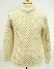 Aran wool sweater (Mytwist) Tags: blarney woolen mills ivory wool cable knit irish aran fisherman sweater boldleafvintage aranstyle aranjumper aransweater authentic retro fetish fashion style sexy sweaters jersey laine design dublin designed handgestrickt handknitted handcraft cabled bulky cozy craft classic cables casual passion textured traditional timeless heritage handknit honeycomb crew webfound mytwist