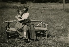 Sweet Love (The Lone Wadi Archives) Tags: bench outdoors couple mysterious unknown lovers romance retro 1930s