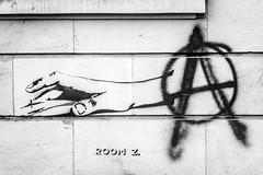 Anarcho Clicktivism (UsualRedAnt) Tags: berlin deutschland stencil f28 stil frankfurterallee schwarzweis grafitti streetart canon 70d friedrichshain ef50mmf14usm germany style