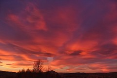 Just your average Scottish sunset! (RagbagPhotography) Tags: dusk lenticularis lenticular clouds standrewsday scotland fife lomond west red sky sunset challenge 366 365