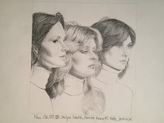 No.138: Kate Jackson (Dame Warden) Tags: drawing portrait sketch kate jackson charlies angels jaclyn smith farrah fawcett