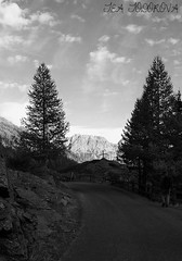 WALKING TO.... NEVACHE FRANCE (teatodorova) Tags: montagna nuvole strada cielo sky montain black and white monicrome road clauds threes