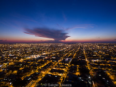 Campo Grande - MS \ Brazil (Gabriel TX) Tags: cityscape landscape sunset drone dji phantom aerial clouds long exposure