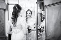 Bride (siebe ) Tags: monochrome blackandwhite bride bruid portrait 2016 mirror spiegel reflection