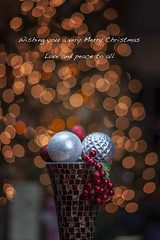 Holiday wishes (dK.i photography) Tags: bokeh holiday greeting theme ornments lights