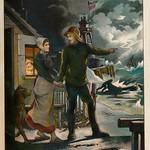 Jugend garten laube 1905   kleurenlitho a