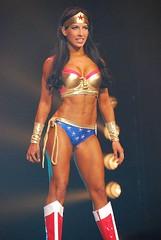 Fitness model Sara Solomon dressed up as Wonder Woman (sabrebiade) Tags: wonderwoman fitnessmodels fitnesswomen abs superhero superheroine sexy hot beautiful