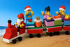 Santa Claus is Comin' to Down Under (Lesgo LEGO Foto!) Tags: x'mas christmas xmas lego minifig minifigs minifigure minifigures collectible collectable legophotography omg toy toys legography fun love cute coolminifig collectibleminifigures collectableminifigure santaclaus santa train christmastrain gifts pressies pressy presents present beach