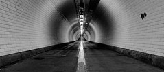 Tunnel Vision (Aleem Yousaf) Tags: tunnel vision thames river crossing north woolwich pedestrian path morning photo walk architecture blackandwhite mono nikon d800 1835mm