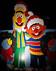 Crippsmas is the Reason for the Season (John 3000) Tags: xmas christmas crippsmas plas holiday lawn decorations night cartoon fremont california ernie bert sesamestreet muppets friends