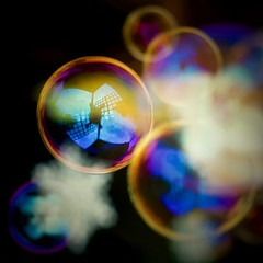 Festive Bubbles (phil_1_9_7_9) Tags: dreamy dreams hmm bubble blackbackground surreal abstract bright bokeh holidaybokeh vibrant handlewithcare depthoffield outside fun christmasday xmas bubbles colours colors macro macromondays redux2016 nikond700 35mm reflections orange pink blue yellow purple