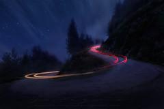Sssss (sgsierra) Tags: s bosque coche light night noche la rioja cebollera stars estrellas trazos painting