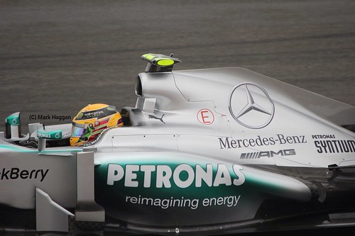 Lewis Hamilton in Free Practice 2 at the 2013 British Grand Prix