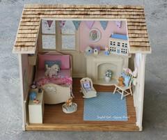 For Ingrid <3 (*Joyful Girl  Gypsy Heart *) Tags: pink blue miniature order custom shabby roombox joyfulgirlgypsyheart