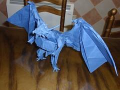 Divine Dragon 2 I Satoshi Kamiya (@GonzaOrigami) Tags: art paper origami fold papel paperfolding papiroflexia bahamut satoshikamiya plegado divinedragon