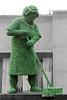 Festival of neighbourhood (michael_hamburg69) Tags: uk greatbritain sculpture woman plants plant london nature unitedkingdom centre skulptur southbank curler grün frau broom figur besen lockenwickler grosbritannien festivalofneighbourhood growyourownideas