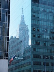 reflections (lowlova) Tags: nyc building square state empirestate times emipre