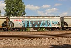 TOWER JAWEZ (The Braindead) Tags: art minnesota train bench photography graffiti painted tracks minneapolis rail explore beyond the